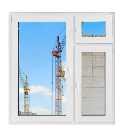 window isolated on a white background photo