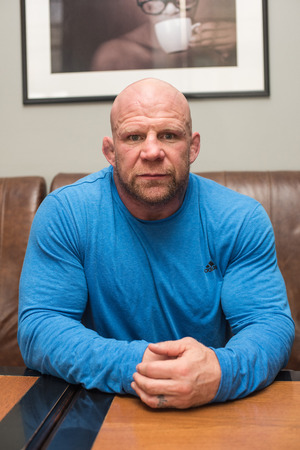jeffrey: BARNAUL, RUSSIA - November 28, 2014: Jeffrey William Monson, American mixed martial artist, world champion, before the fight with Russian fighter Ilya Sheglov on November 28, 2014 in Barnaul, Russia Editorial