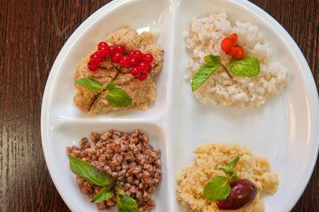 groats: Cereals - buckwheat rice millet wheat groats