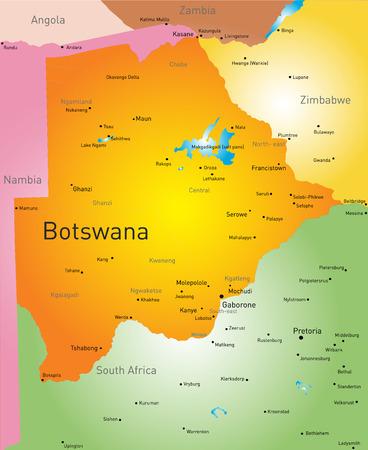 botswana: Vector color map of Botswana