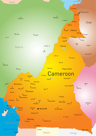 cameroon: Vector color map of Cameroon