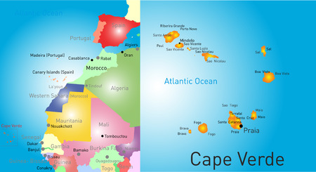 Vector color map of Cape Verde