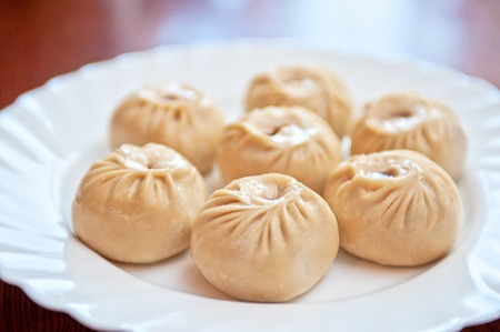 packets: Buuza is a Buryat or Mongolian national dish, paste packets stuffed with minced meat and then steamed