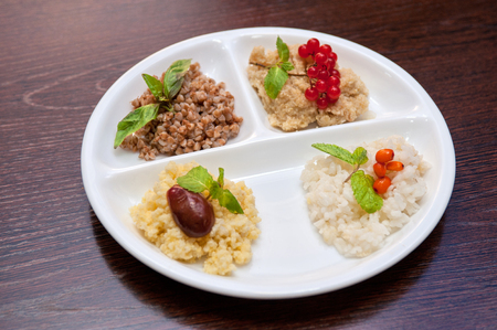 groats: Cereals - buckwheat rice millet and wheat groats