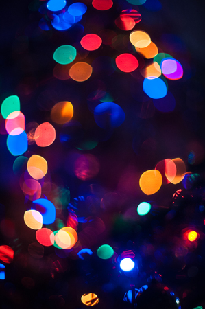 red and gold: New year bokeh background for design Stock Photo