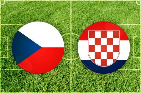 football european championship: Euro cup match Czech against Croatia
