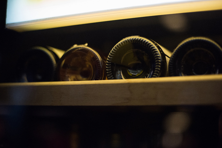 riesling: Wine cellar with old riesling wine
