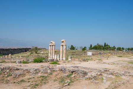 hierapolis: Pammukale, Turkey, ancient city Hierapolis, near modern turkey city Denizli