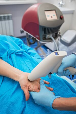 hyperhidrosis: Procedure for palm against hyperhidrosis