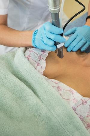 neckline: fractional laser rejuvenation of neckline area for women