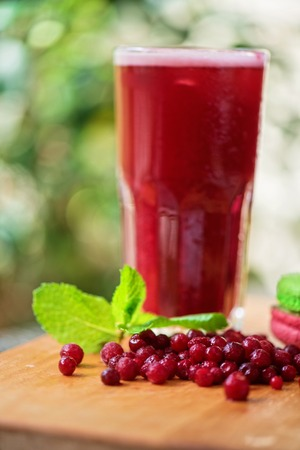 nonalcoholic: fruit non-alcoholic drink with cranberries