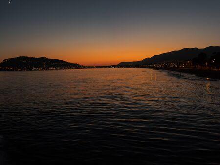 alanya: Evening at Alanya coast, Turkey