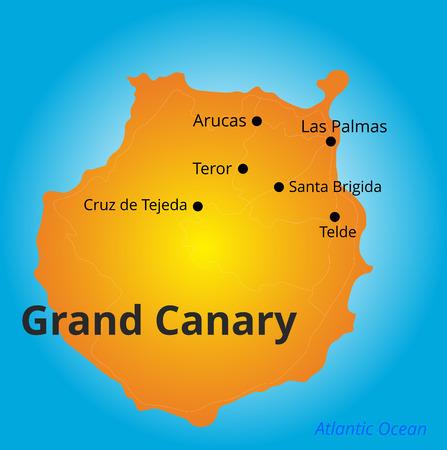 mapa de color de Gran Canaria
