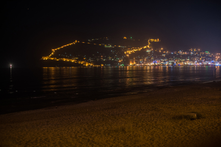turkey beach: Alanya city, view from the beach, one of the famous destinations in Turkey
