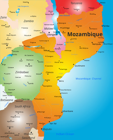 rudolf: Vector color map of Mozambique country