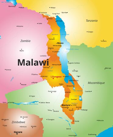 malawi flag: Vector color map of Malawi country