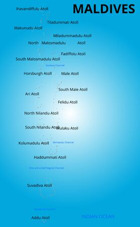 maldives island: Vector color map of Maldives country