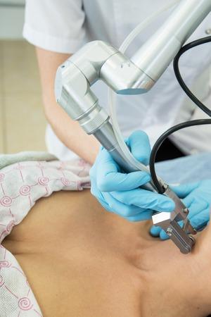 fractional: fractional laser rejuvenation of neckline area for women