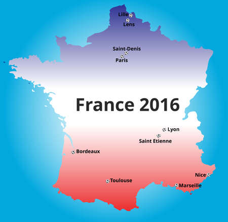 toulouse: Cities of France euro 2016 championship Illustration