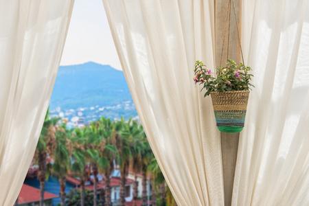 alanya: view from hotel in Alanya city, Turkey
