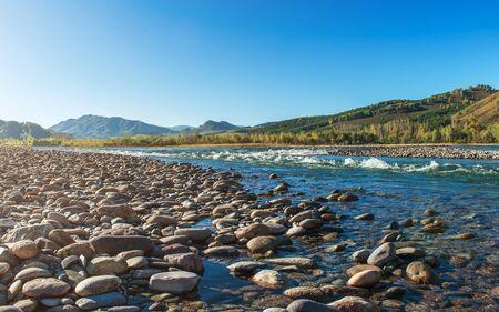 siberia: Fast mountain river in Altay, Siberia, Russia