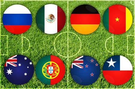 Confederations Cup countries Stock Photo