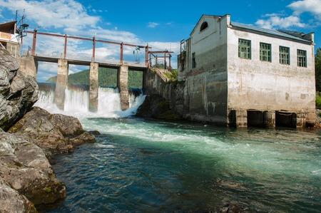 Hydro power station Stock Photo