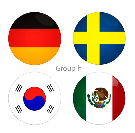 Football Cup. Group F countries Banco de Imagens