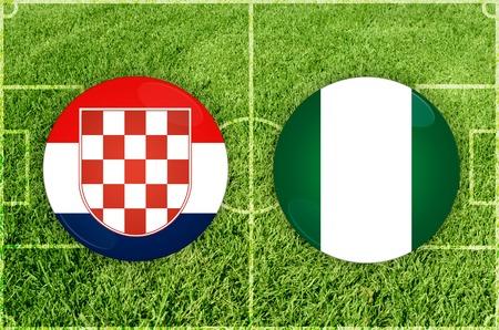 Illustration for Football match Croatia vs Nigeria