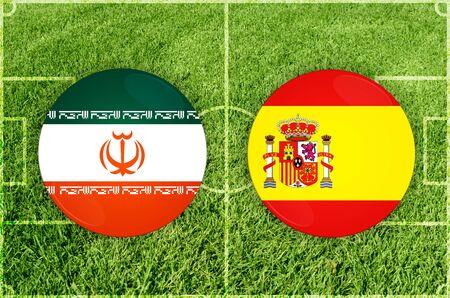 Illustration for Football match Iran vs Spain