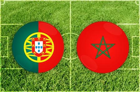 Illustration for Football match Portugal vs Marocco