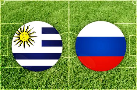 Illustration for Football match Uruguay vs Russia