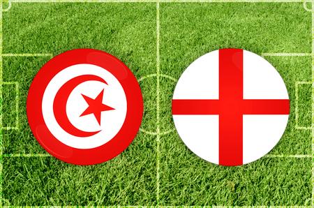 Illustration for Football match Tunis vs England