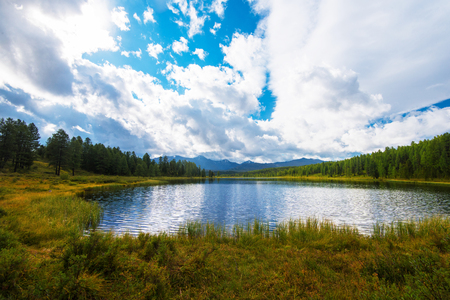Lake in the Altai Mountains, Siberia Stock Photo