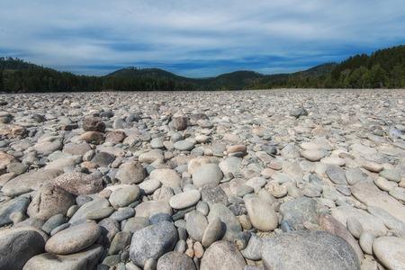 Katun river, in the Altai mountains, Siberia, Russia Stok Fotoğraf