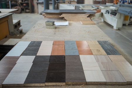 Wood materials for processing and furniture production Banco de Imagens