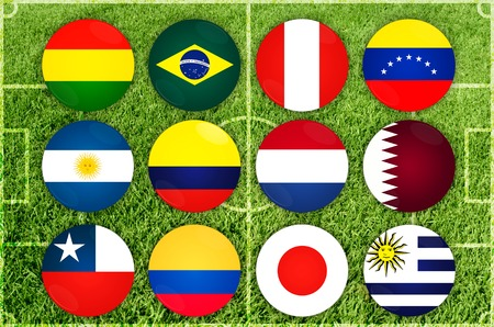 Football Cup of Copa America 2019. All countries of the tournament
