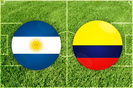 Illustration for Football match Argentina vs Colombia Imagens