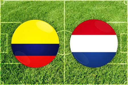 Illustration for Football match Colombia vs Paraguay