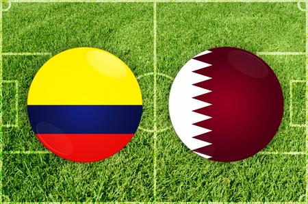 Illustration for Football match Colombia vs Qatar