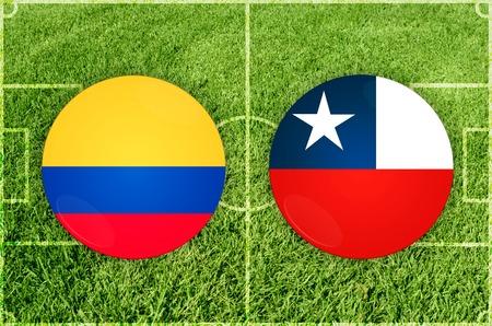 Illustration for Football match Ecuador vs Chile Imagens