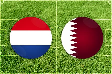 Illustration for Football match Paraguay vs Qatar Imagens