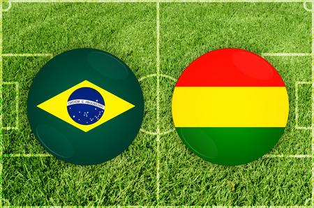Illustration for Football match Brazil vs Bolivia