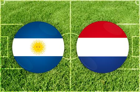 Illustration for Football match Argentina vs Paraguay