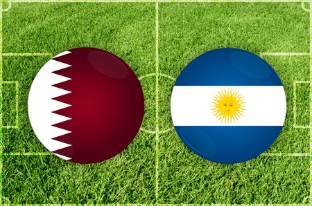 Illustration for Football match Qatar vs Argentina