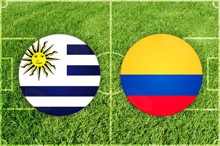 Illustration for Football match Uruguay vs Ecuador