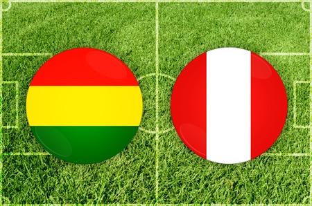 Illustration for Football match Bolivia vs Peru