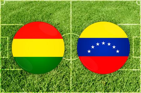 Illustration for Football match Bolivia vs Venezuela