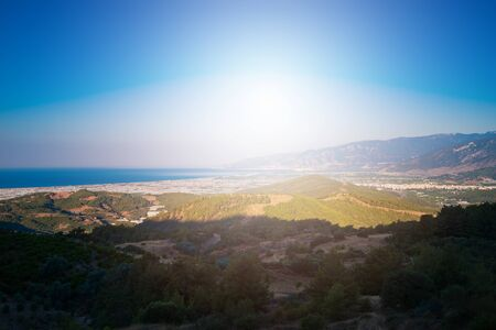 Sunrise on the sea and mountains in Turkey Imagens - 128609242