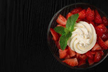 Strawberry with cream 写真素材